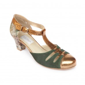 SANTA TECLA - GREEN & ANTIQUE GOLD